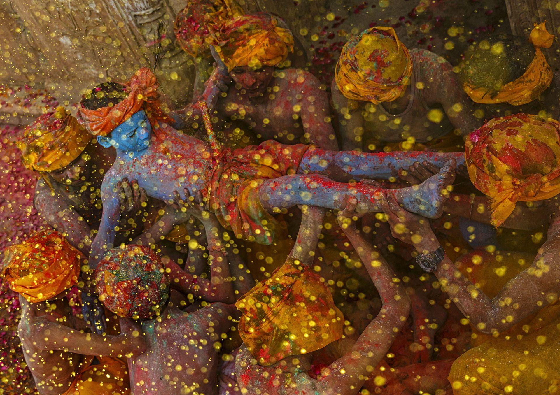 Krishna the god of colours