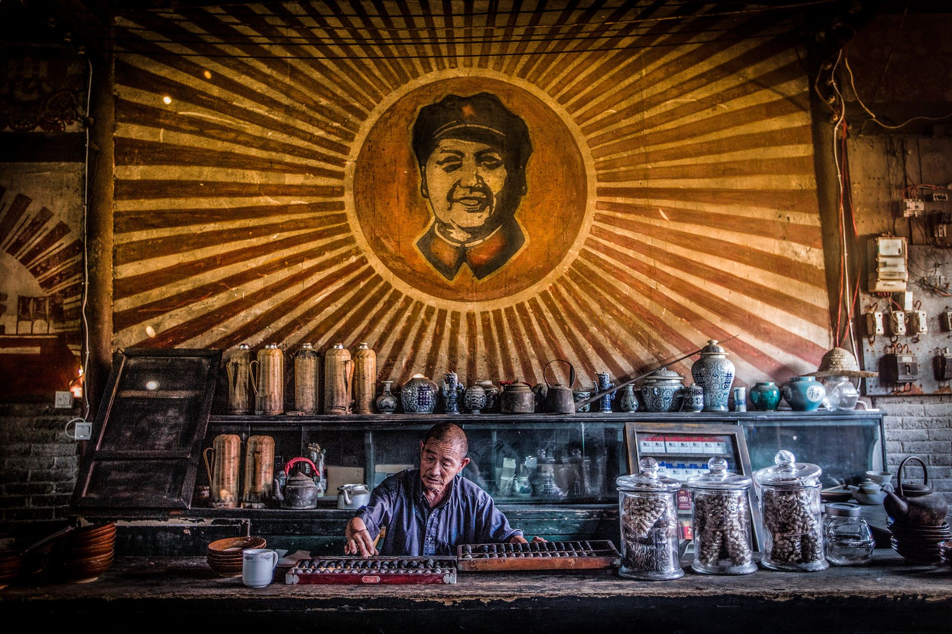 Man running a teahouse
