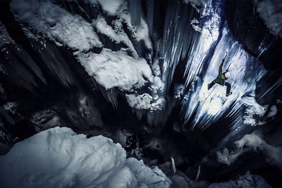 Black Light Ice Climbing