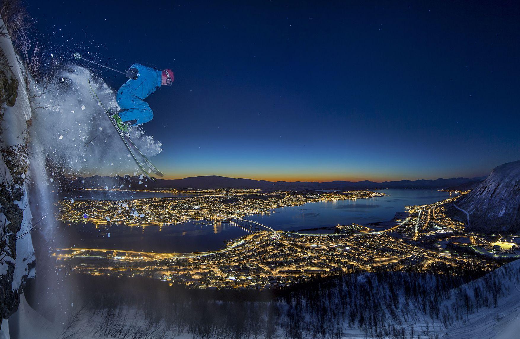 Arctic Urban Skiing