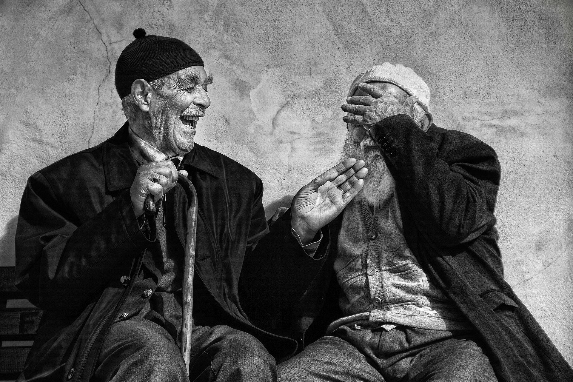 Cheerful conversation