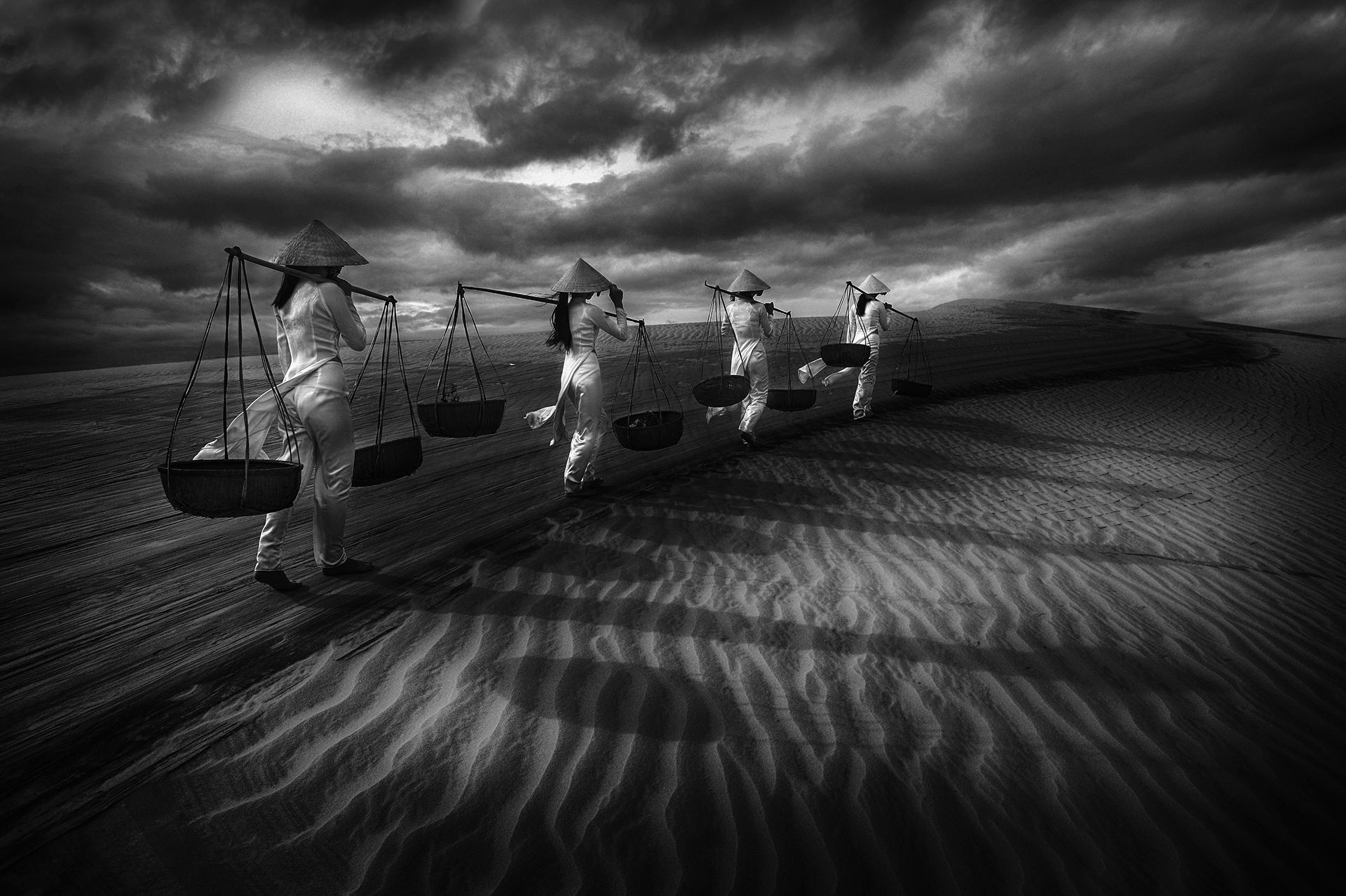Going Home On The Sand Dunes