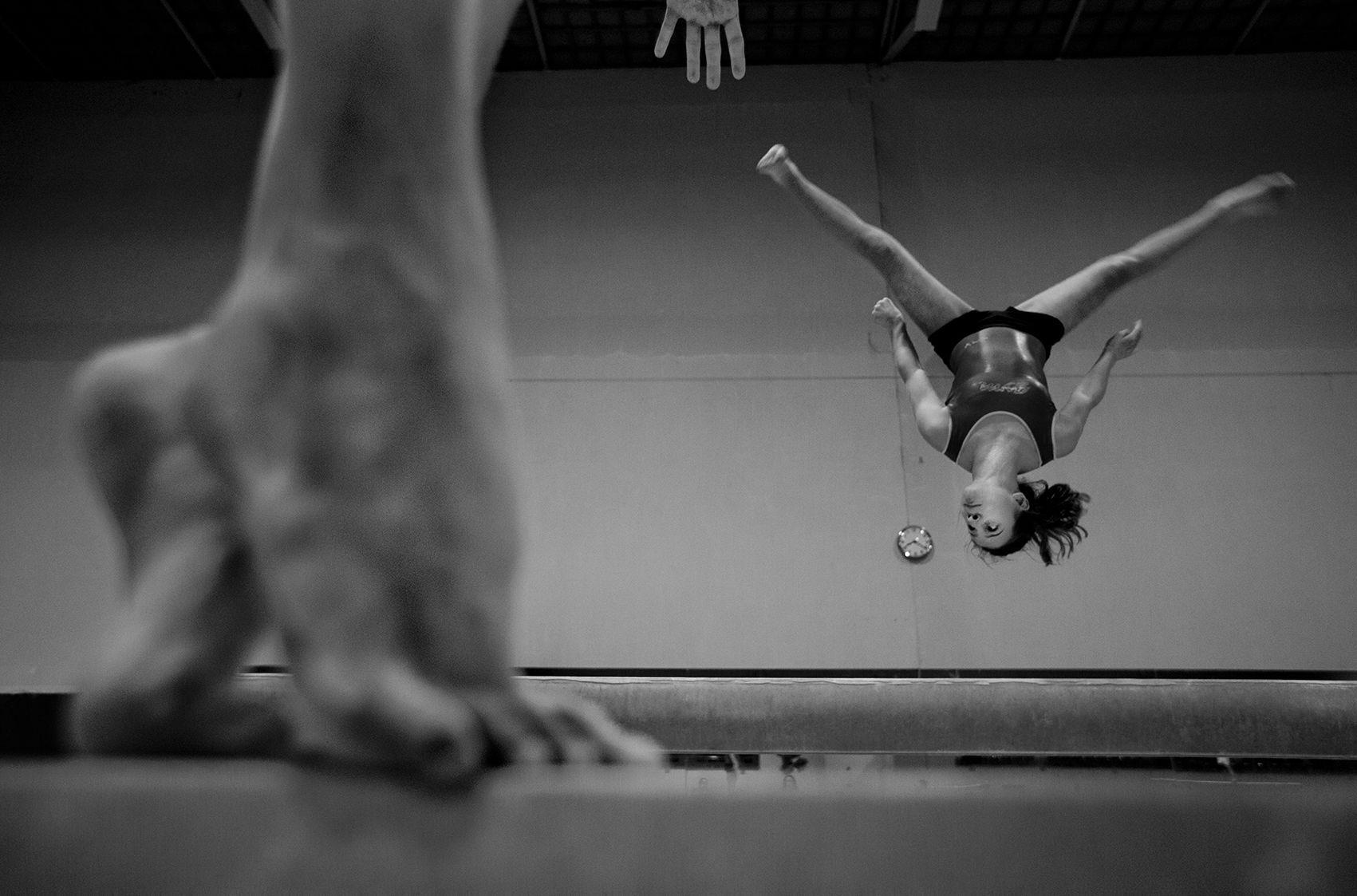 Upside down gymnastic
